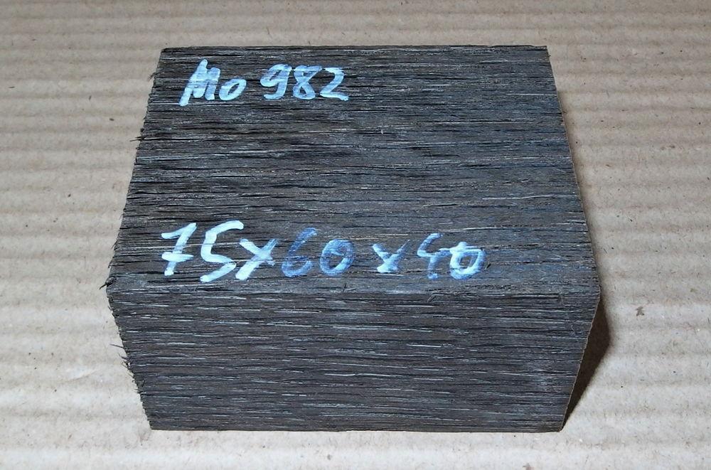 Mo982 Mooreiche Morta Ebauchon Pfeifenrohling 75 x 60 x 42 mm