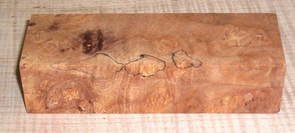 Maple (Oregon) Burl Knife Block 120 x 40 x 30 mm