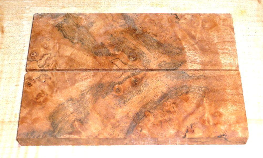 Oregon-Ahorn Maser Griffschalen 120 x 40 x 10 mm