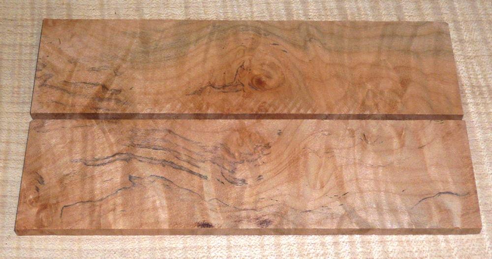 Oregon-Ahorn Maser Folder-Griffschalen 140 x 40 x 4 mm