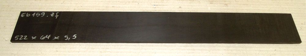 Ebf159 Ebony Saw Cut Veneer 522 x 64 x 5,5 mm