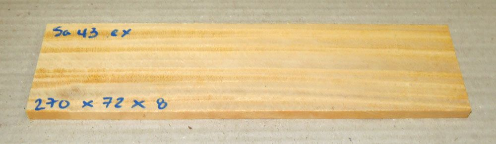 Sa043 Satinwood, East Indian 270 x 72 x 8 mm