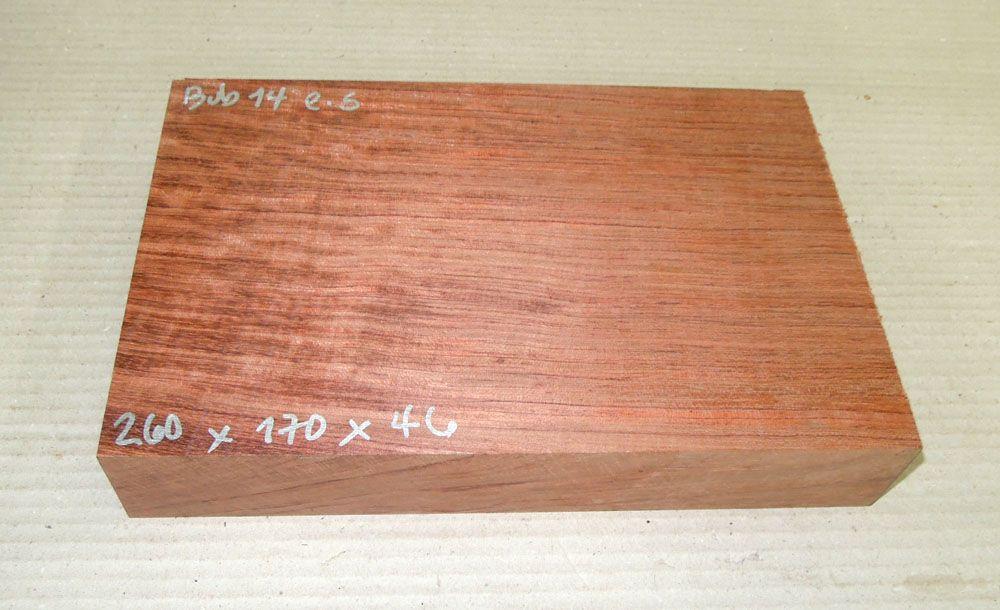 Bub014 Bubinga 260 x 170 x 46 mm