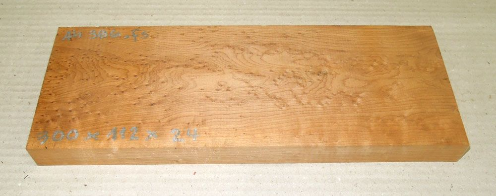 Ah386 Roasted Birds Eyes Maple 300 x 112 x 24 mm