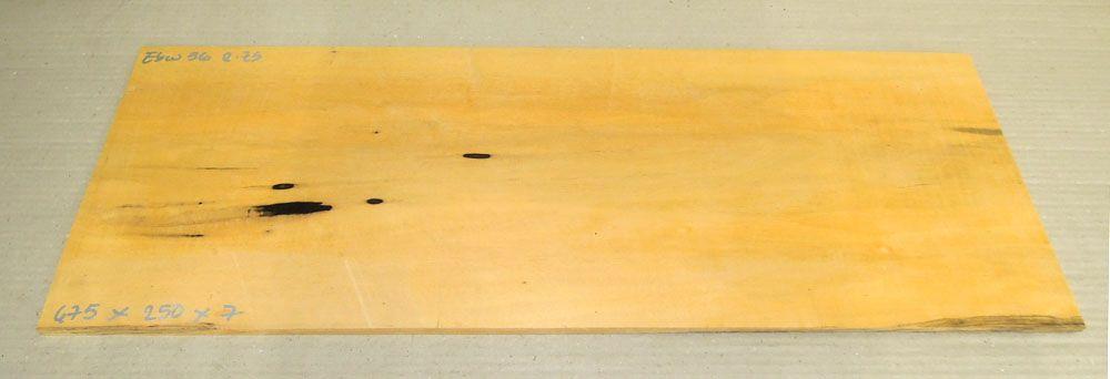 Ebw036 Schwarz-weißes Ebenholz 675 x 250 x 7 mm