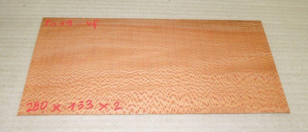 Pn019 Platane Sägefurnier 280 x 133 x 2 mm