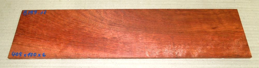 Bl099 Bloodwood Satiné 405 x 100 x 6 mm