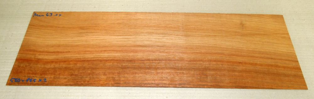 Mam063 Afzelia, Doussie Saw Cut Veneer 580 x 185 x 2 mm