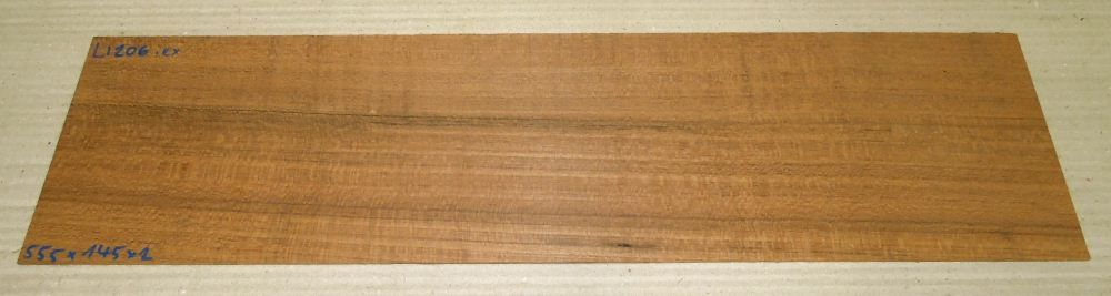 Ll206 Freijo, Laurel Saw Cut Veneer 555 x 145 x 2 mm
