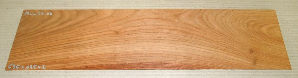 Mam066 Afzelia, Doussie Saw Cut Veneer 535 x 135 x 2 mm
