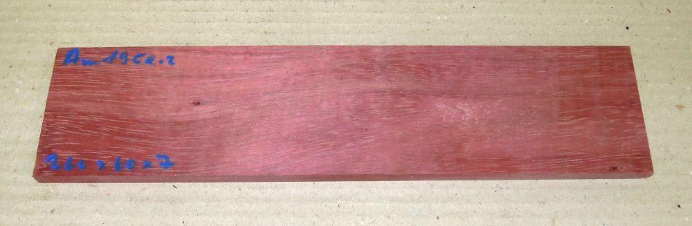 Am195 Amaranth, Purpurholz 260 x 60 x 7 mm