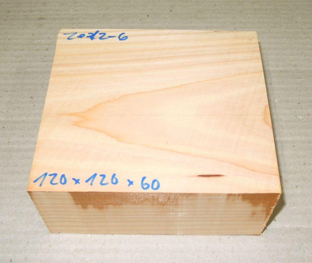Ze012-6 Echte Libanon-Zeder, Libanon Zedernholz 120 x 120 x 60 mm