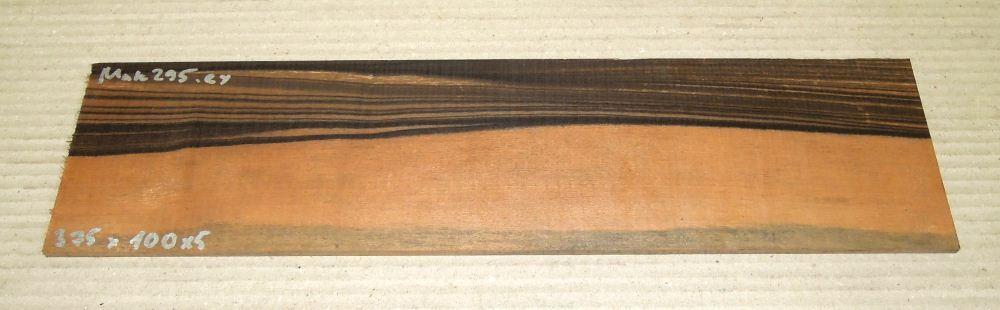 Mak295 Makassar-Ebenholz Sägefurnier 375 x 100 x 5 mm