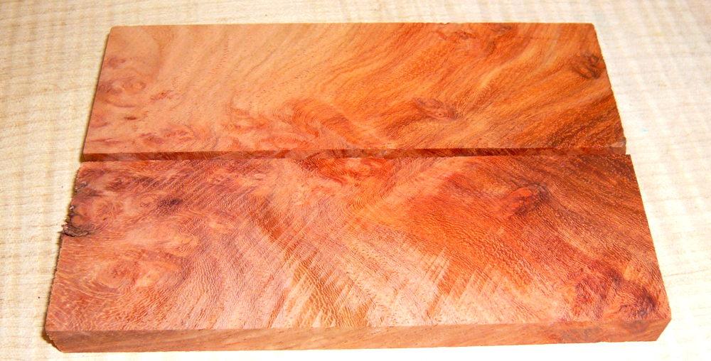 Amboyna, Narra Crosscut Knife Blank 120 x 40 x 30 mm