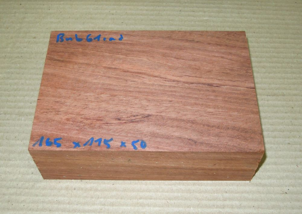 Bub061 Bubinga 165 x 115 x 50 mm