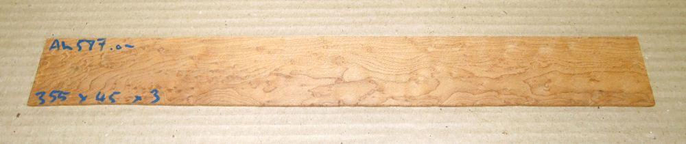 Ah587 Vogelaugenahorn getempert 355 x 45 x 3 mm