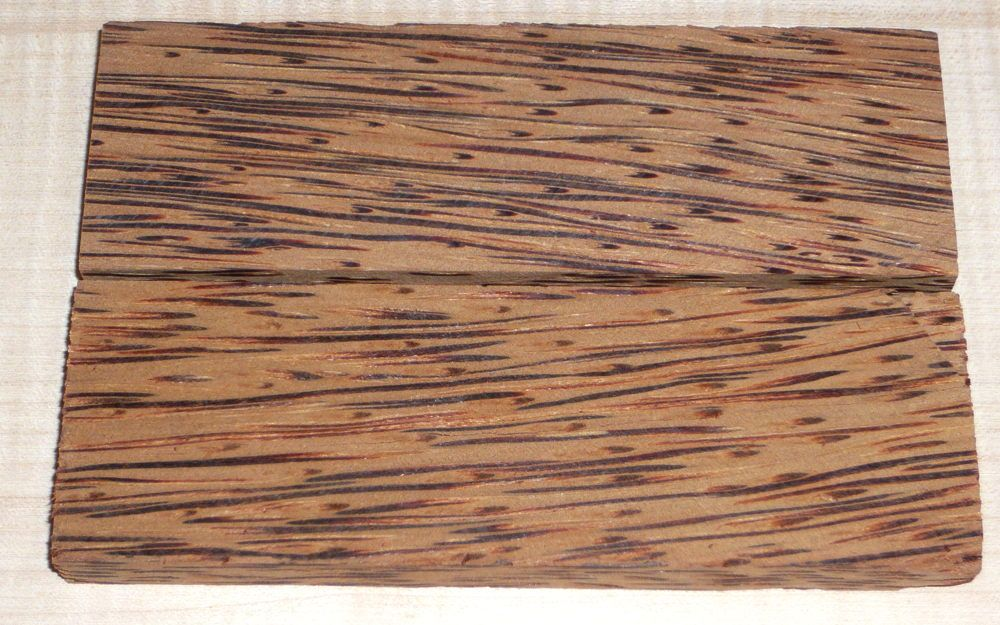 Palm Wood Red Knife Scales 120 x 40 x 10 mm