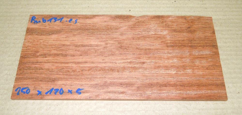 Bub131 Bubinga Pommelé 250 x 120 x 5 mm