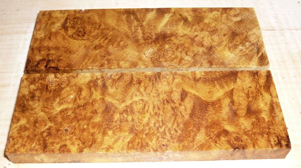 Sindora Burl Knife Scales 120 x 40 x 10 mm