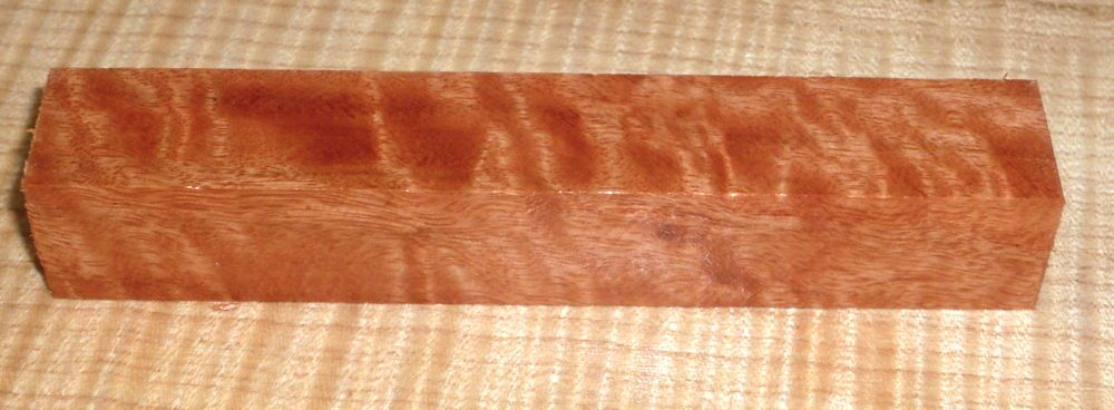 River Red Gum Moire, geriegelter Pen Blank 120 x 20 x 20 mm