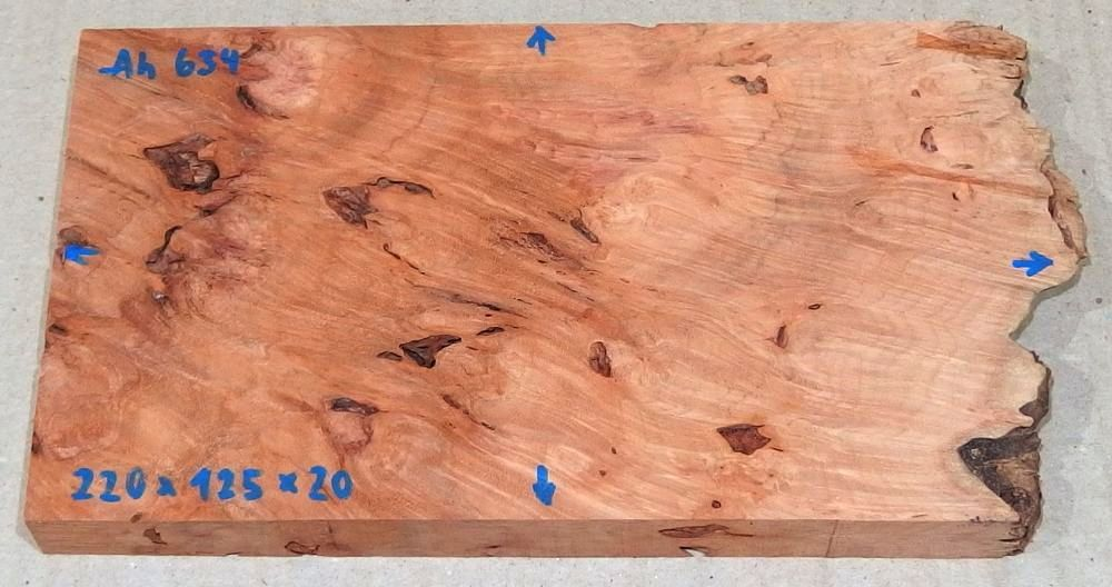 Ah634 Oregon Maple Burl Spalted 220 x 125 x 20 mm
