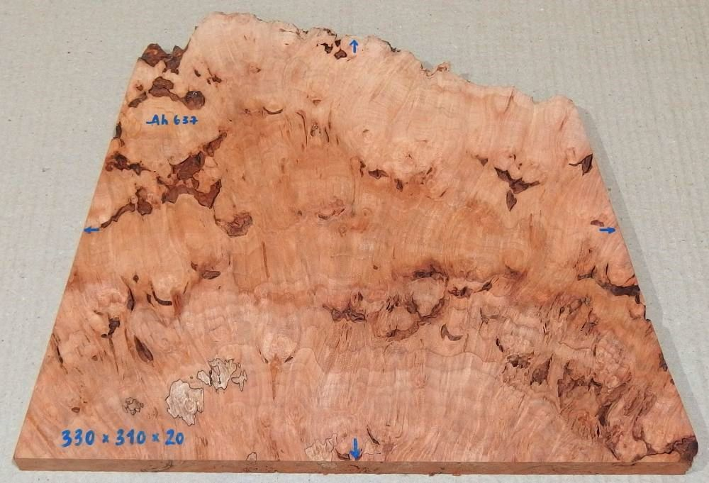 Ah637 Oregon Maple Burl Spalted 330 x 310 x 20 mm