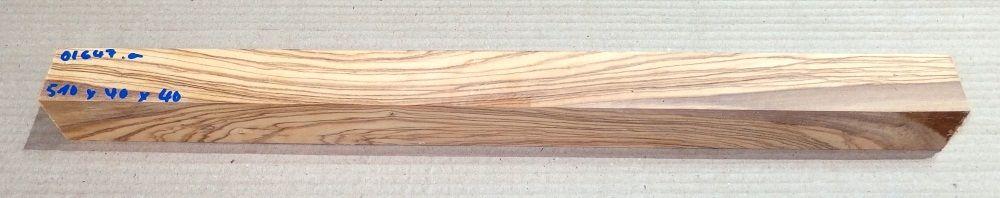 Ol647 Wild Olive Wood Blank 510 x 40 x 40 mm