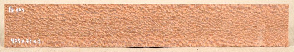 Pz101 Perlholz Sägefurnier 475 x 71 x 2 mm