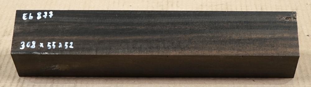 Eb877 Ebony Blank B-graded 308 x 55 x 52 mm