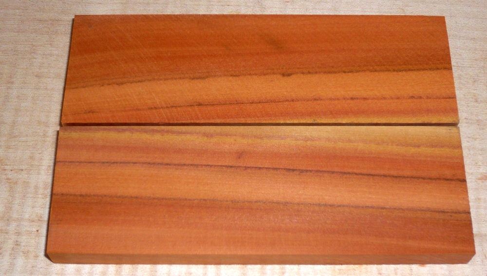 Peroba Rosa, Salmon Wood Knife Scales 120 x 40 x 10 mm