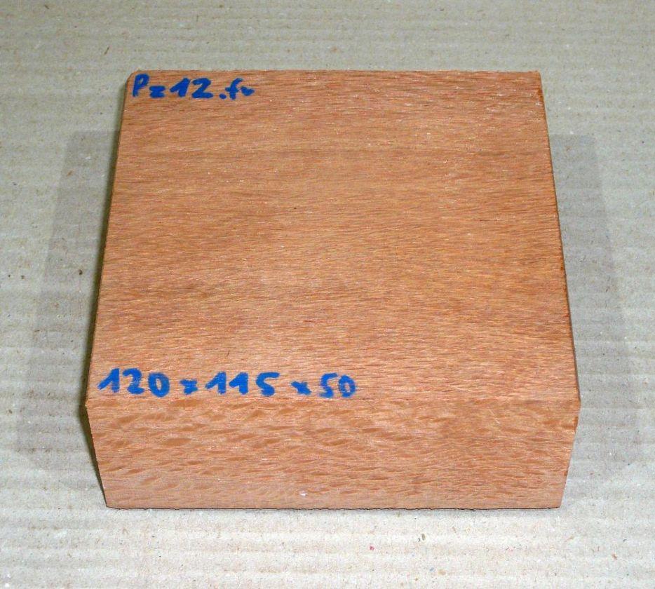 Pz012 Perlholz Block, Schalenrohling 120 x 115 x 50 mm