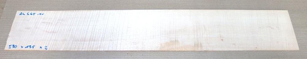 Ah665 Riegelahorn, Bergahorn Sägefurnier 830 x 135 x 2 mm