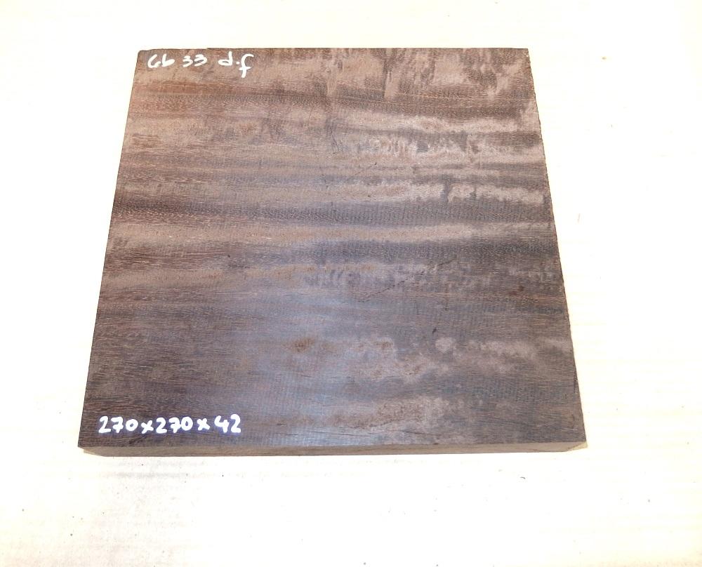 Gb033 Coraçao de Negro, Gombeira  270 x 270 x 42 mm