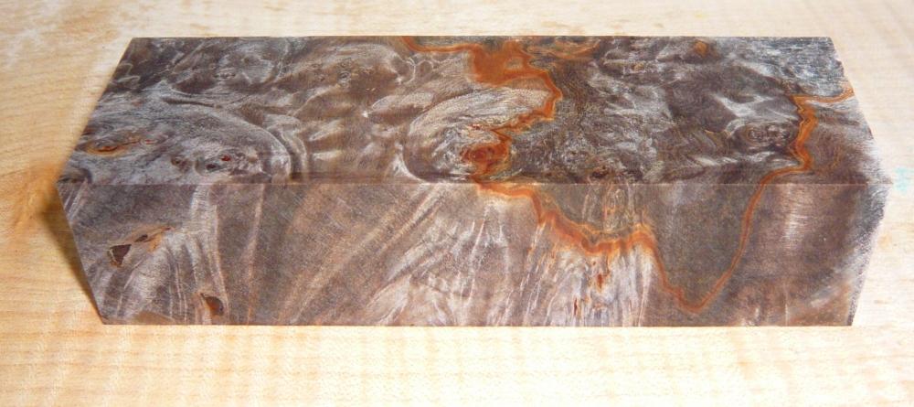 Buckeye Burl stabilisiert Griffblock 120 x 40 x 30 mm