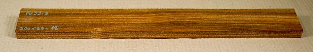 Po039 Pockholz Hobelsohle 500 x 60 x 18 mm