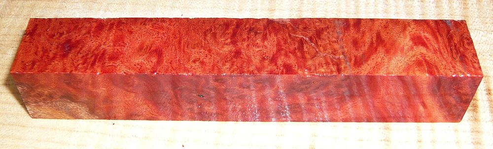 Red Mallee Maser Pen Blank 120 x 20 x 20 mm
