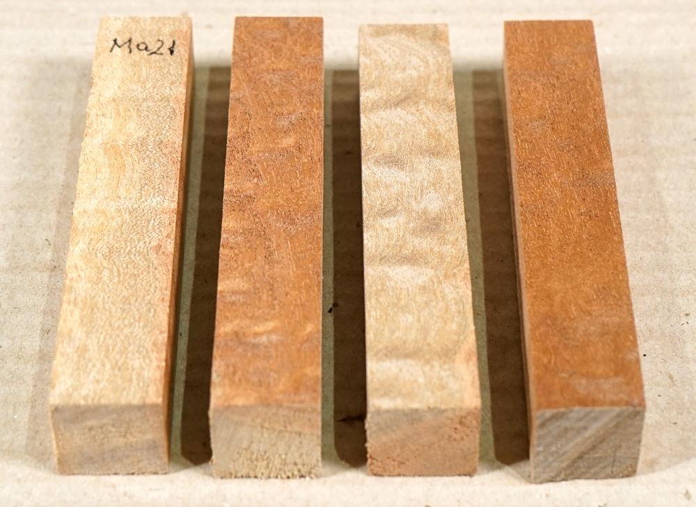 Ma021 Mahagoni Sapeli Pommelé Splint Pen Blank 4 Stck. a 120 x 20 x 20 mm