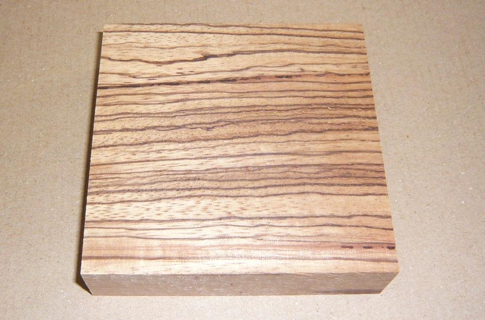 Zeb003 Zebrawood Bracelet Blank 95 x 95 x 25 mm
