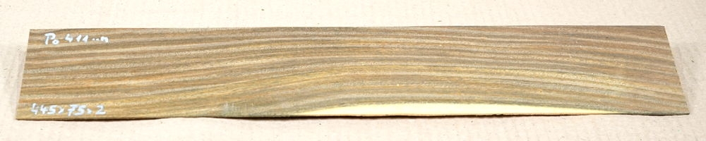 Po411 Bulnesia-Pockholz Sägefurnier 445 x 75 x 2 mm