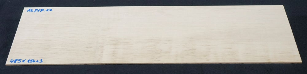 Ah714 Fiddleback Maple, Curly Maple Saw Cut Veneer 485 x 150 x 3 mm