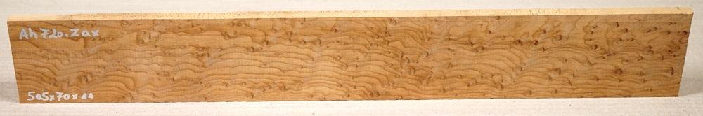 Ah720 Vogelaugenahorn getempert Griffbrett 505 x 70 x 11 mm