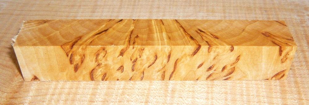 Birch Burl, Karelian Cross Cut Pen Blank 120 x 20 x 20 mm