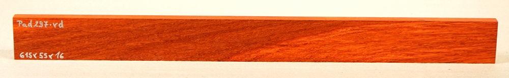 Pad297 Padauk, Coral Wood Small Board 615 x 55 x 16 mm