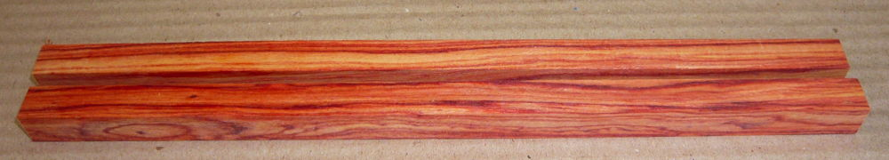 Ro018 Rosenholz, Bahia-R., Essstäbchen-Rohlinge Paar 245 x 12 x 12 mm