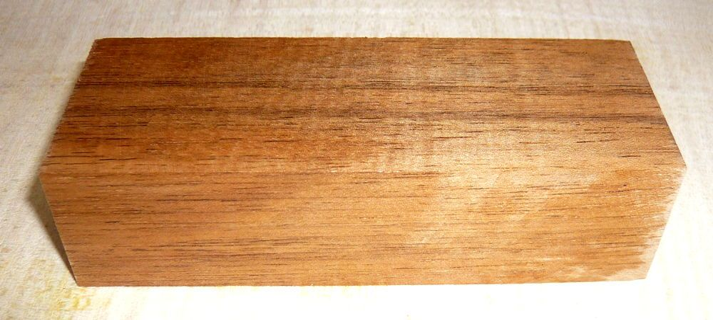 Walnut European Knife Blank 120 x 40 x 30 mm