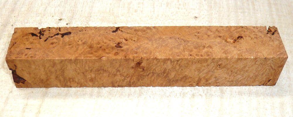 Maple Burl Pen Blank 120 x 20 x 20 mm