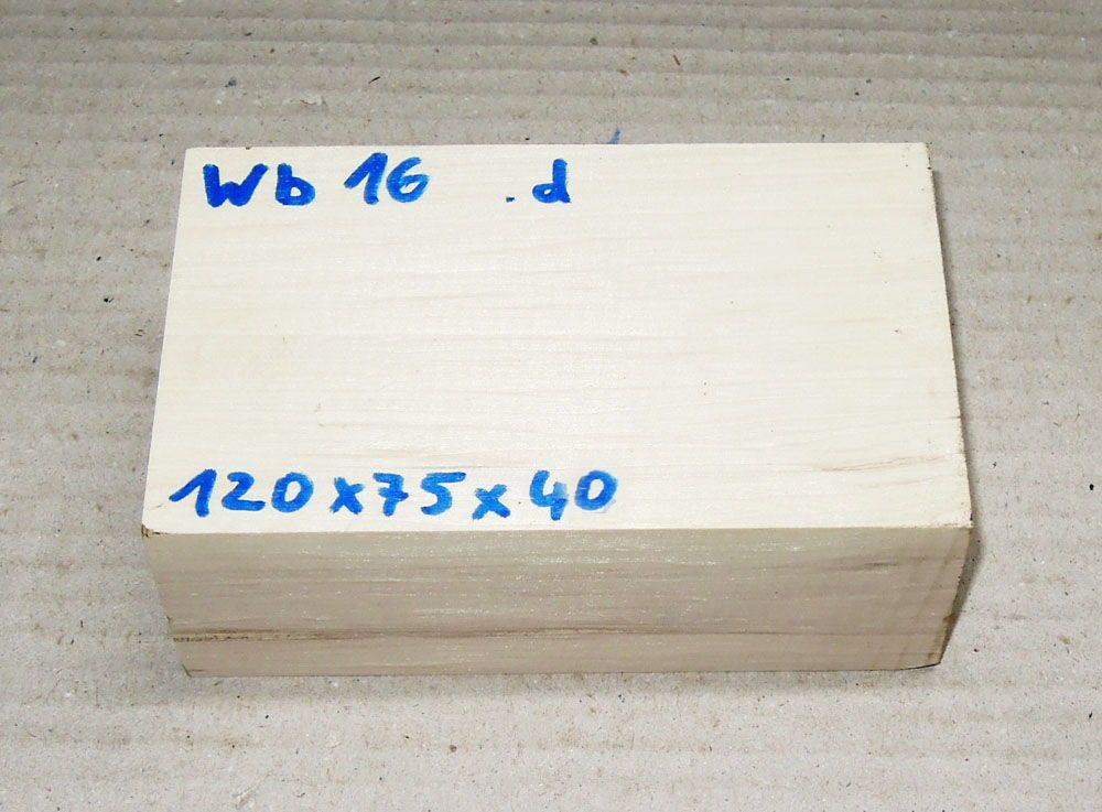 Wb016 Weißbuche 120 x 75 x 40 mm
