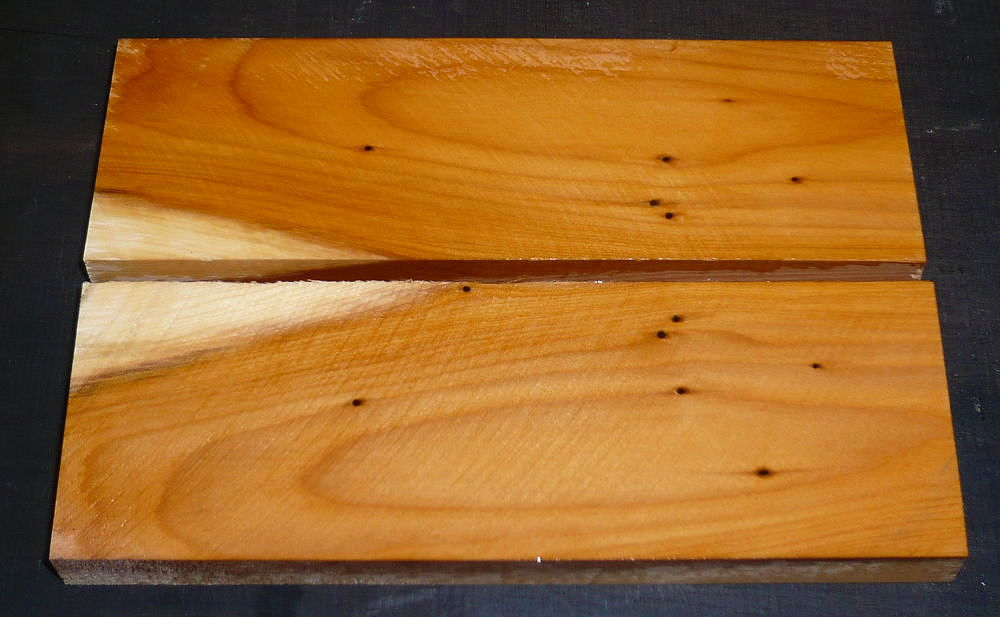 Yew Knife Scales 120 x 40 x 10 mm