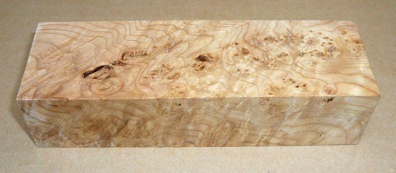 Esche Maser Griffblock 120 x 40 x 30 mm