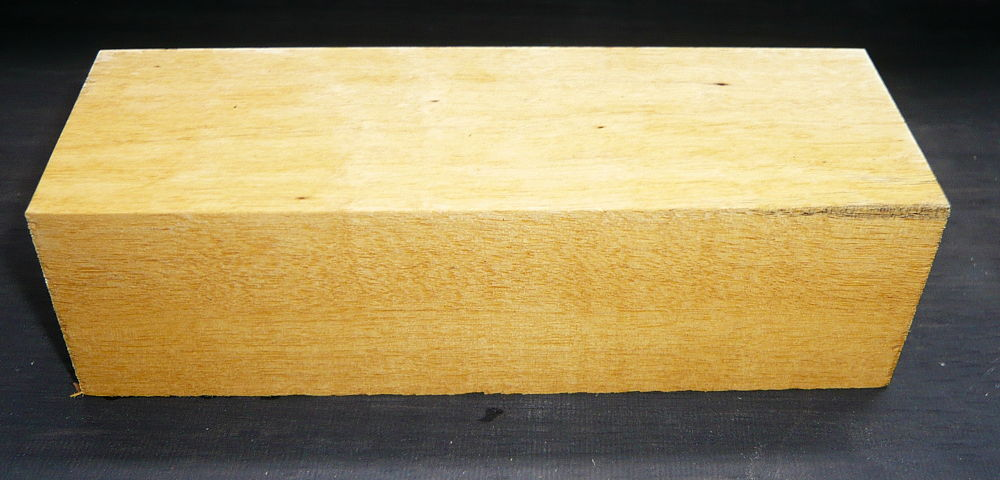 Persimmon, weißes Ebenholz Griffblock 120 x 40 x 30 mm